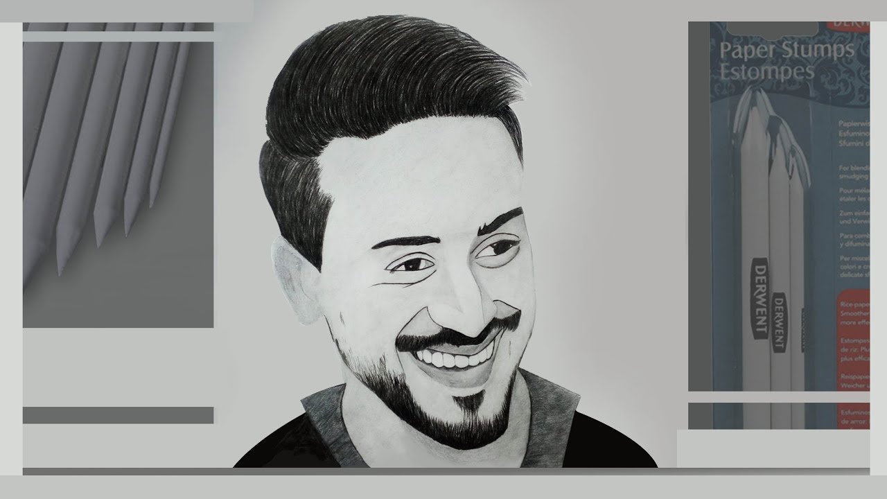 How To Draw Bollywood Actor Tiger Shroff Sketch Tiger Shroff How To Sketch A Face From A Photo Youtube