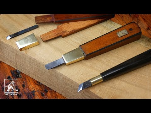 Making A Carving Knife And Chisels - Woodblock Printmaking Tools