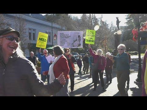 Flash Mob On the Plaza in Ashland Oregon December 9, 2017