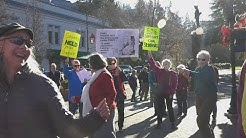 Flash Mob On the Plaza in Ashland Oregon December 9, 2017