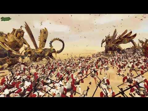 19 Necrosphinx VS 6840 Halberdiers - Tomb Kings - The Laboratory - Total War: Warhammer 2