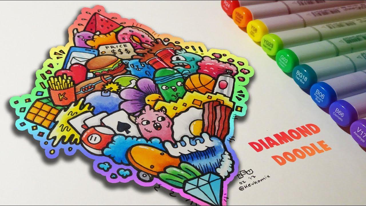DIAMOND DOODLE Doodles 12 Copic Marker YouTube