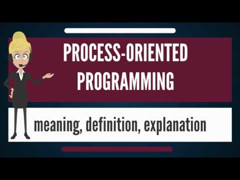 What is PROCESS-ORIENTED PROGRAMMING? What does PROCESS-ORIENTED PROGRAMMING mean?