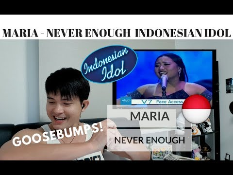 [REACTION] GOOSEBUMPS! MARIA - NEVER ENOUGH | Indonesian Idol | #JANGReacts