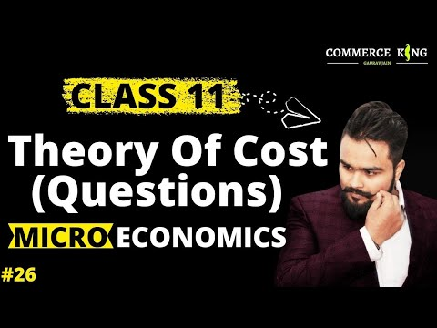 Formulas and problems of theory of cost(Class 12 microeconomics) economics on your tips video 26