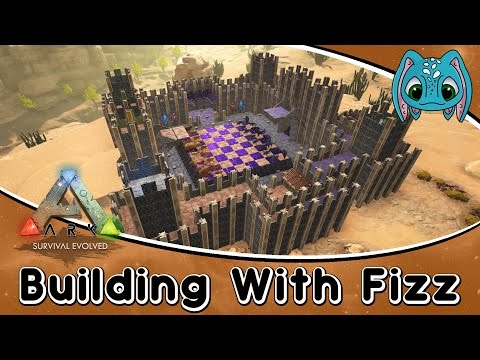 ARK: Scorched Earth Building w/ Fizz :: How To Build a Chess Board (No Mods)!!