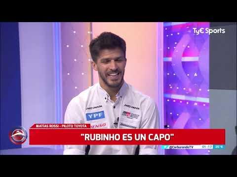 Matías Rossi analiza su 2020 en el piso de Carburando TV