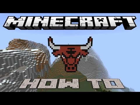 Minecraft ~8 Bit~ HOW TO : Chicago Bulls Logo ( Tutorial ) /W Killerkev