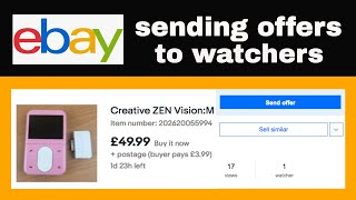 ebay Sending Offers to Watchers - Sunday live reseller chat