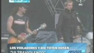 Pepsi Music 2009 - Los Violadores - 1, 2, Ultraviolento junto a Die Toten Hosen