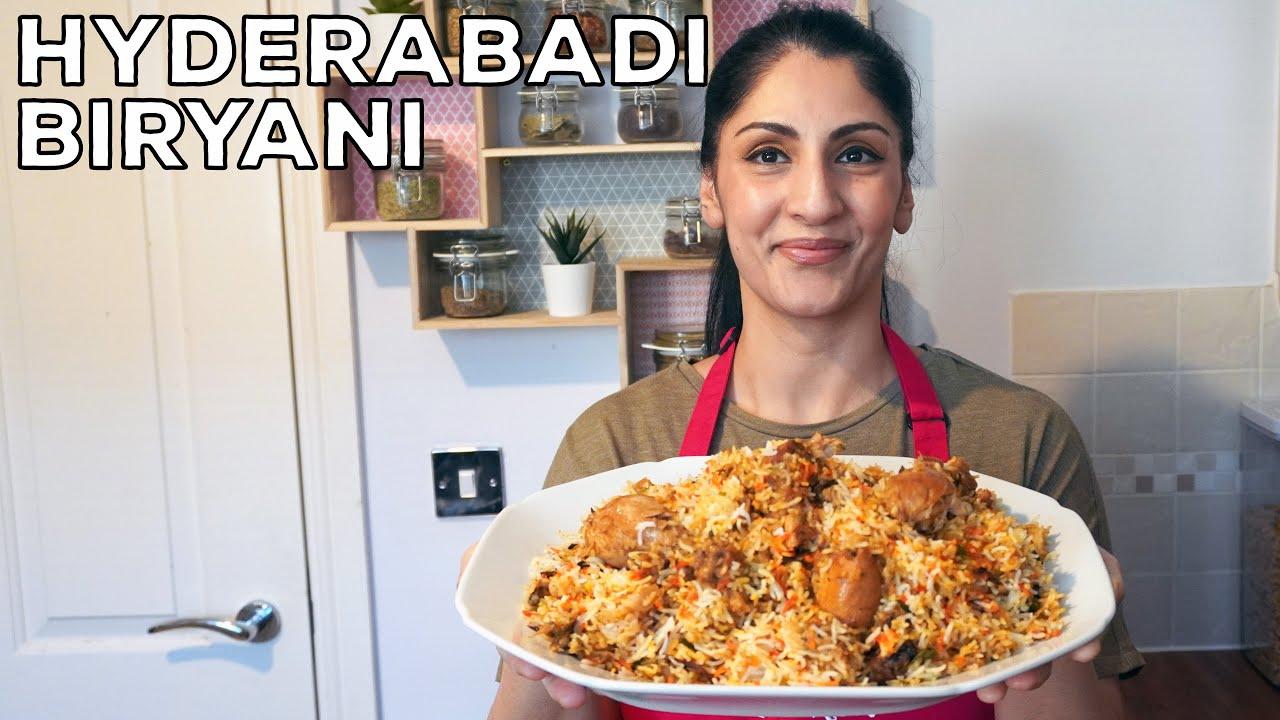 Hyderabadi Biryani Recipe | Spiced Meat & Rice | Chicken & Rice Recipe | Tutorial | DIY | Eid