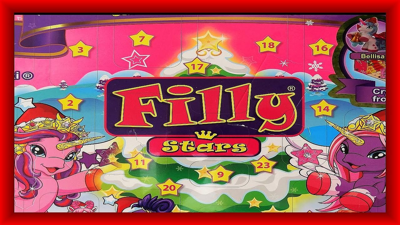 unboxing filly stars advent calendar from germany. Black Bedroom Furniture Sets. Home Design Ideas