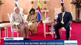 Entebe: Ssaabaminisita wa Buyindi Modi atuuse kuno. thumbnail