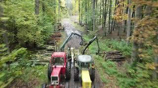 Praca w lesie/Zrywka drewna/DJI MAVIC AIR2 4K