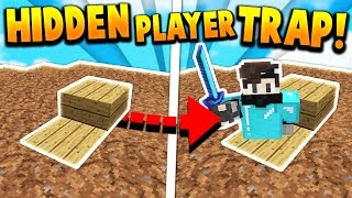 HIDDEN PLAYER TRAP TROLL! - Minecraft SKYWARS TROLLING