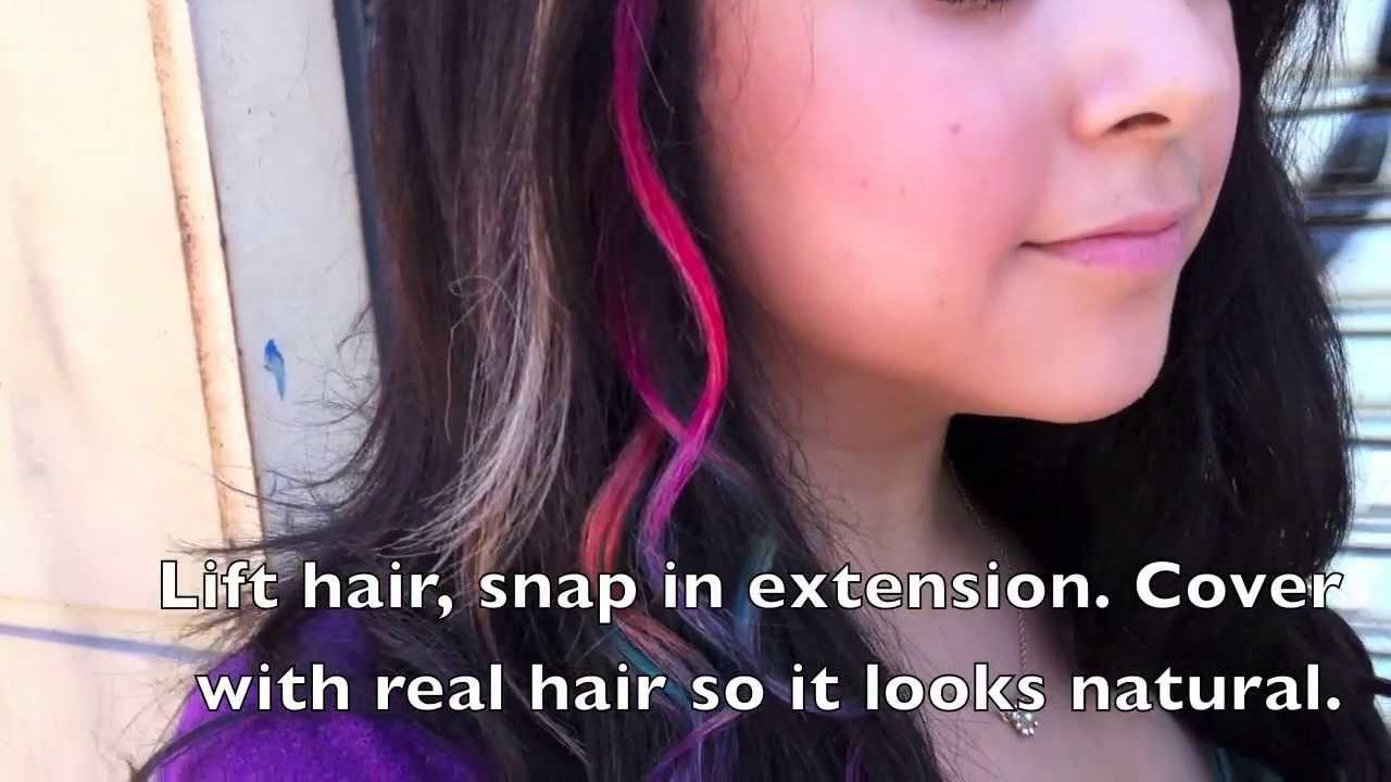 Diy Rainbow Hair Tie Dye Hair Extensions Tutorial Youtube