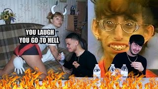 IF YOU LAUGH, YOU GO TO HELL (TRY NOT TO LAUGH CHALLENGE)