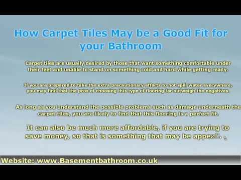 Why Should Or Shouldnu0027t You Install Bathroom Carpet Tiles?