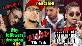 Rappers Reaction on Tik tok Ban ! Why Raftaar loosing Followers ? REASON