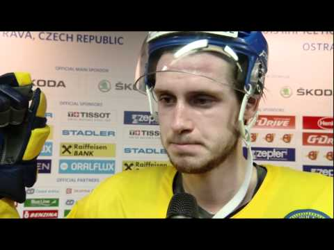 Oliver Ekman Larsson Interview after the game against Russia 2015-05-14 IIHF 2015 WC Swedish/Svenska