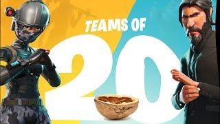 Teams of 20 in a Nutshell - Fortnite