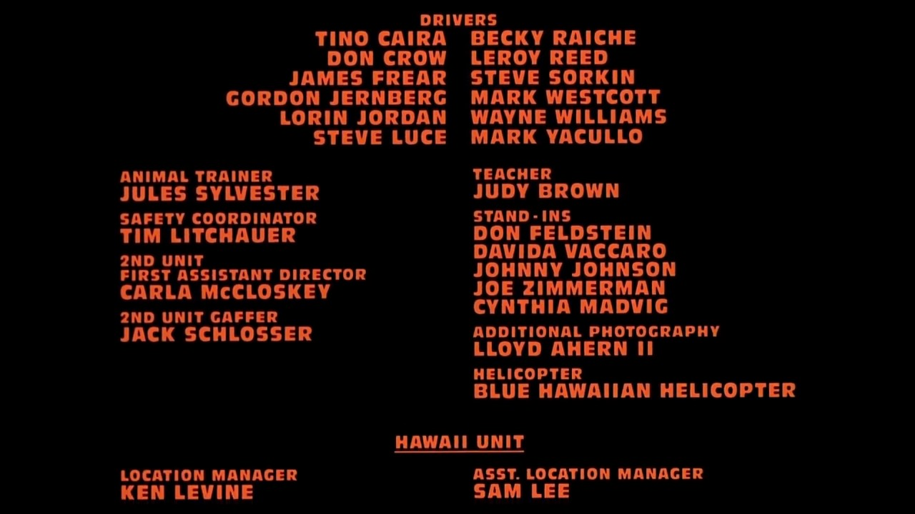 Month End Closing >> Jurassic Park 1993 End Credits - YouTube