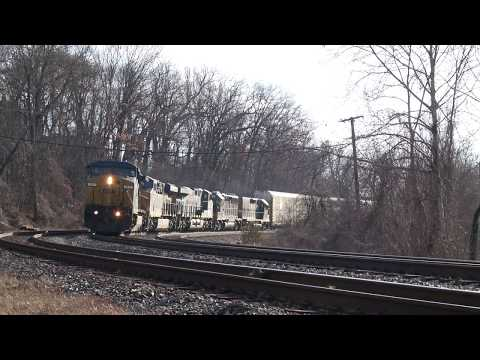 Auto Rack Q-277 Westbound with 4 Engines And a Road Slug 3/10/18