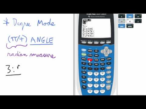 How To Change Radians To Degrees On Ti 84