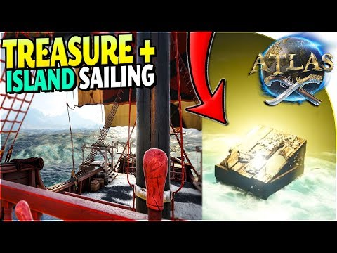 ATLAS GAMEPLAY PART 1 - Freeport Town + FIRST SHIP + Island Survival