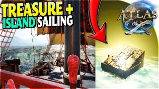 NEW ISLAND SAILING + TREASURE MAP + TREASURE at Sea in Atlas Pirate Survival Gameplay Part 2