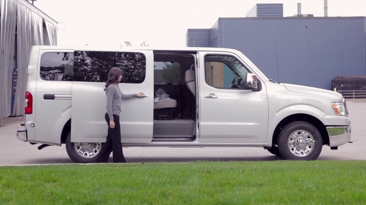 2017 nissan nv passenger van sliding doors youtube. Black Bedroom Furniture Sets. Home Design Ideas