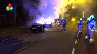 Auto vat spontaan vlam tijdens rit op West-Frieslandsingel Heerhugowaard