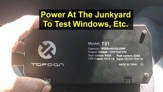 Having Power To Test Parts At The Junkyard, Jumpbox, Etc. - Votd