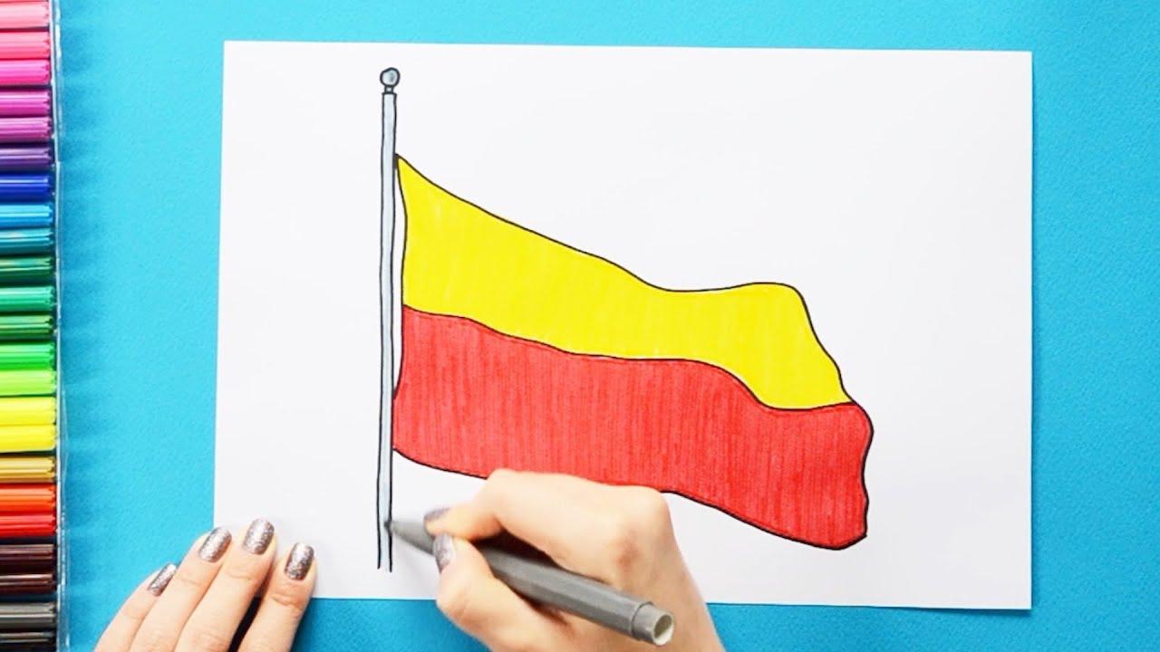 How to draw the Flag of Karnataka State, India