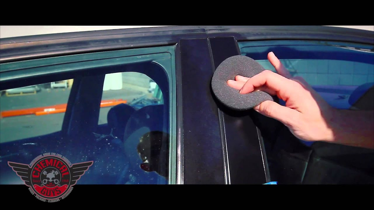 How to restore plastic trim chemical guys trim gel detailing car care youtube Black interior car trim restorer