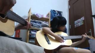 Khát vọng mùa xuân-guitar bé khánh linh 6 tuổi