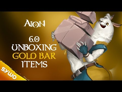 AION 6.0 | Unboxing All Gold Bar Shop Items