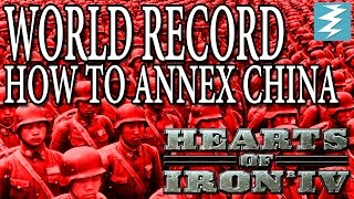 How To Conquer China Fast WORLD RECORD Tutorial - Hearts of Iron IV HOI4 Paradox Interactive