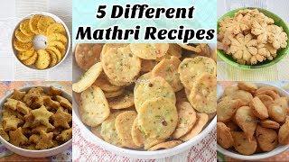 5 Different Mathri Recipes   Crispy Indian Snacks Recipe In Hindi  Magic of Indian Rasoi