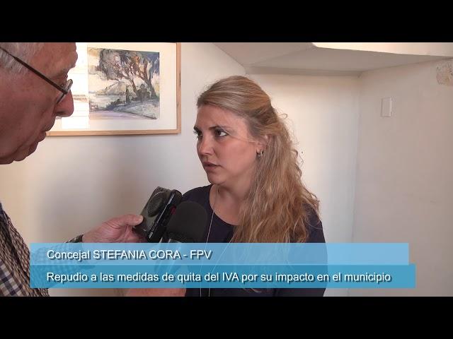 Concejal Cora repudia la quita del IVA por su impacto en el municipio