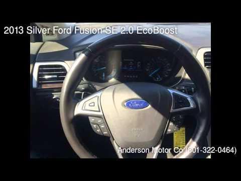 2013 silver ford fusion se 2 0 ecoboost salt lake city ut 84111 used cars youtube. Black Bedroom Furniture Sets. Home Design Ideas