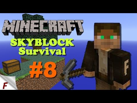 Minecraft skyblock survival #8. Venture into the Nether. Let's Play with commentary