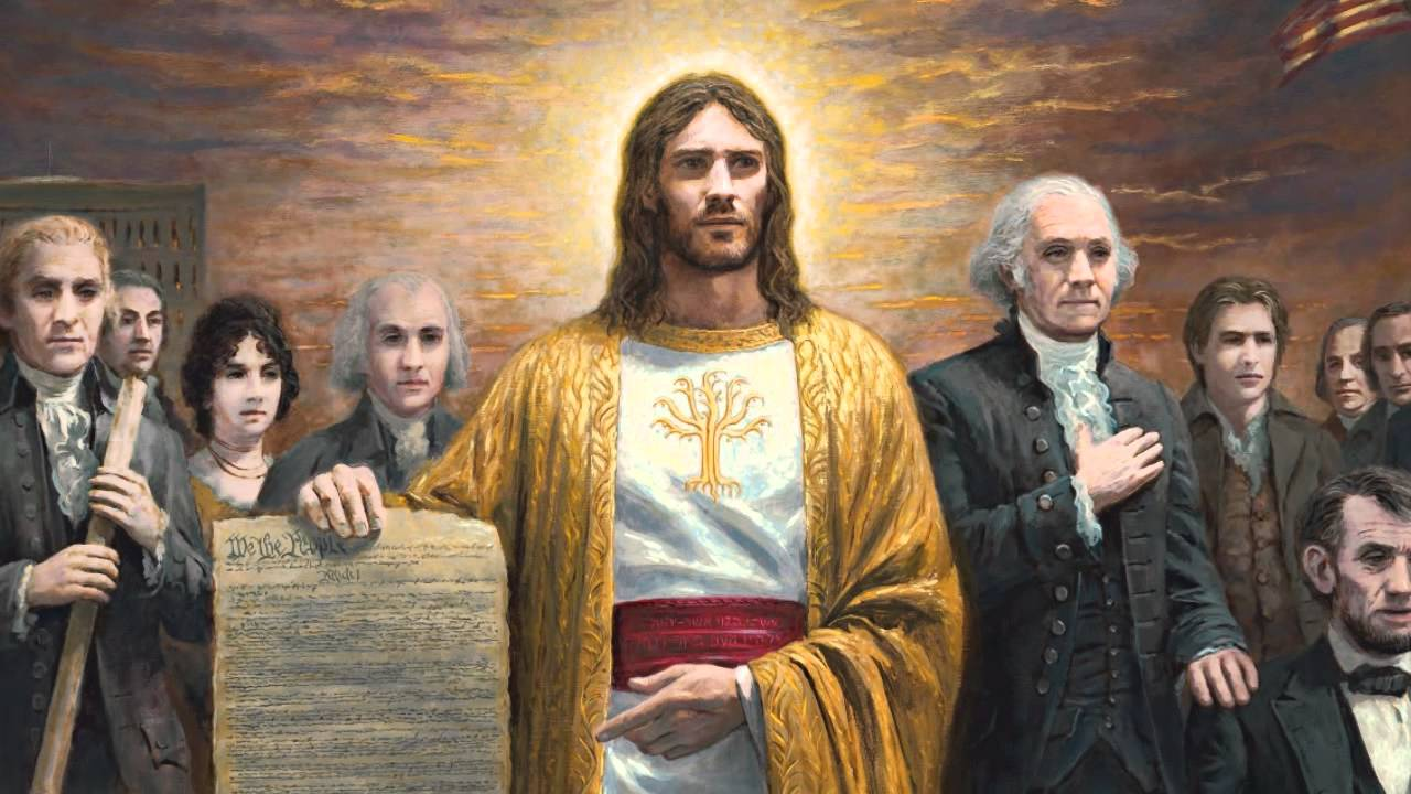 Symbolism of jesus christ in one nation under god jon symbolism of jesus christ in one nation under god jon mcnaughton youtube biocorpaavc Image collections