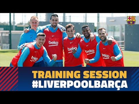 First training session to prepare the Champions League match against Liverpool