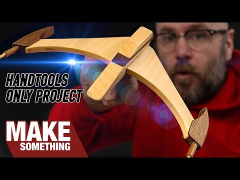 Making a Wooden Spacecraft with Only Hand Tools | Woodworking Project