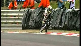 BSB British Superbikes Eurosport crash compilation
