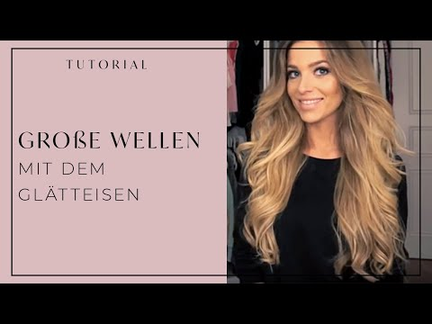 Große Wellen Glätteisen Flat Iron Haare Big Waves Hair Tutorial Luana Silva Victorias Secret Look