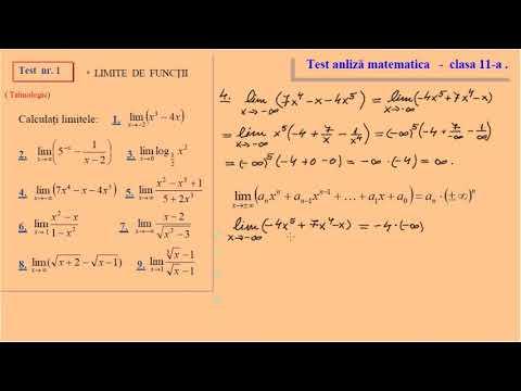 Test 1 Analiza Matematica Clasa A XI A Tehnologic
