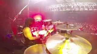 Paul Bostaph/ SLAYER Repentless European Tour 2015: Barcelona, Spain