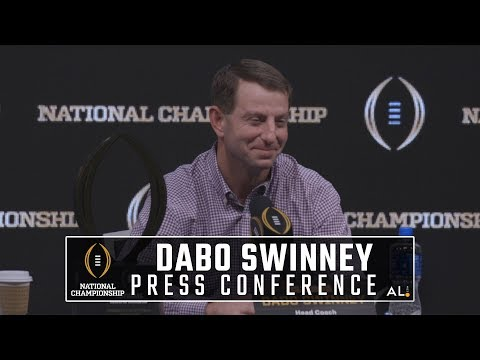 Dabo Swinney and Clemson MVPs National Championship Press Conference
